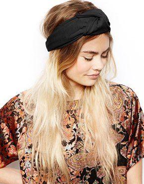 Ingrandisci ASOS - Fascia per capelli annodata stile turbante