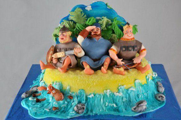 Шикарные торты с яркими персонажами