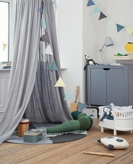 Sebra Baldachin Betthimmel Grau Nursery And Playroom Decor