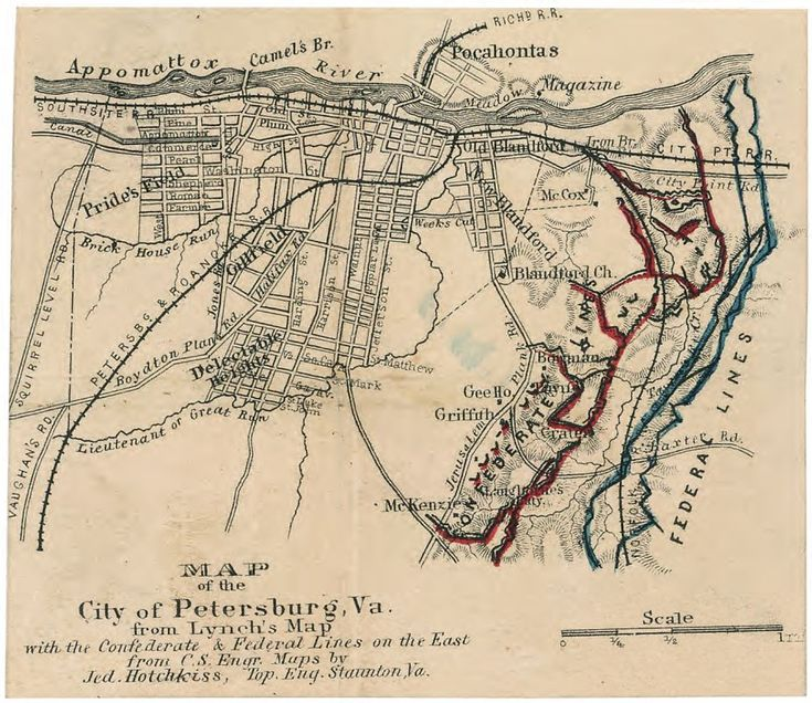 siege of petersburg images | Civil War Battle of Petersburg Map