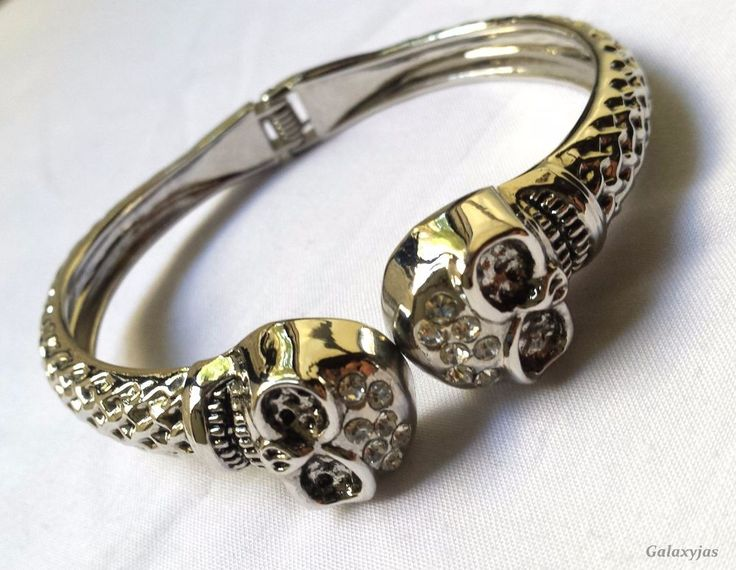 indian beautiful skull bracelets,silver,weight-39gm #Unbranded #Bangle