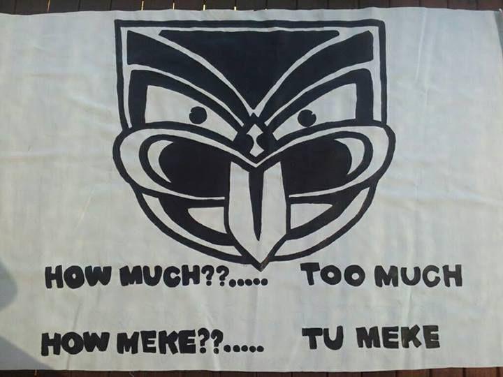 'Tu Meke' Warriors supporter banner #WarriorsArt