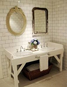Ceramic Tile Over Cinder Block Wall. Yes! Now My Laundry Room Area In The