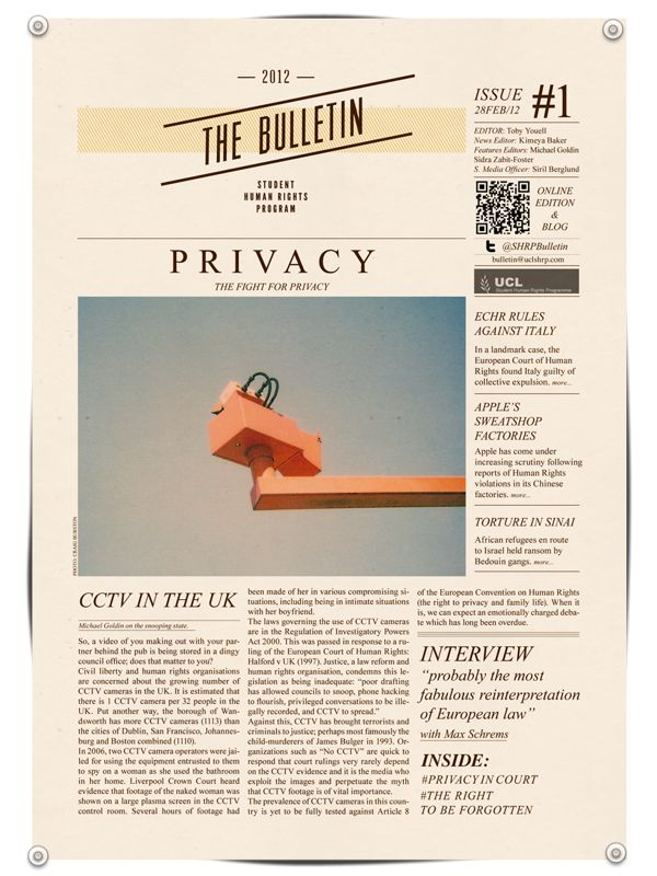Bulletin for UCL | Editorial design on Behance