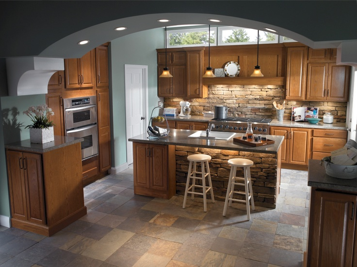 The HomeCrest Square Heartland Oak Doors With A Sable Finish Create A  Lively, Rustic Atmosphere