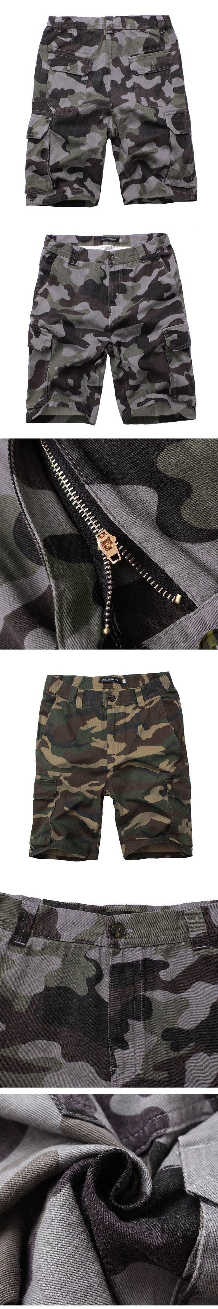 2017 New Cargo Shorts Men Casual Jogger Camouflage Brand Clothing Cotton Male Fashion Army Camo Work Shorts Men Plus Size 30-44
