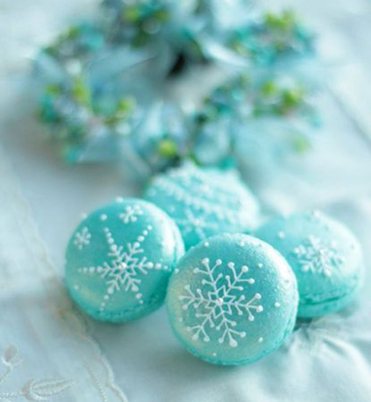 Macarons La Reine des Neiges