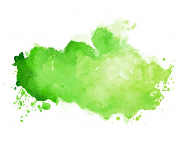 Download Watercolor Stain Texture In Green Color Shade For Free In