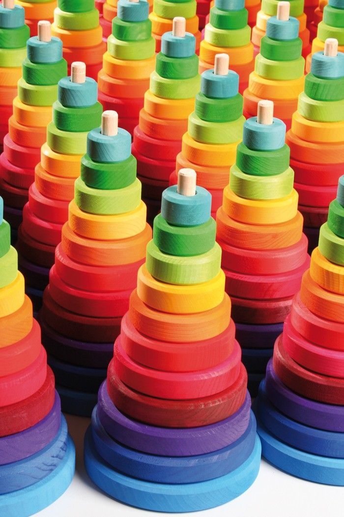 Rainbow Wooden Stacking Toy ....