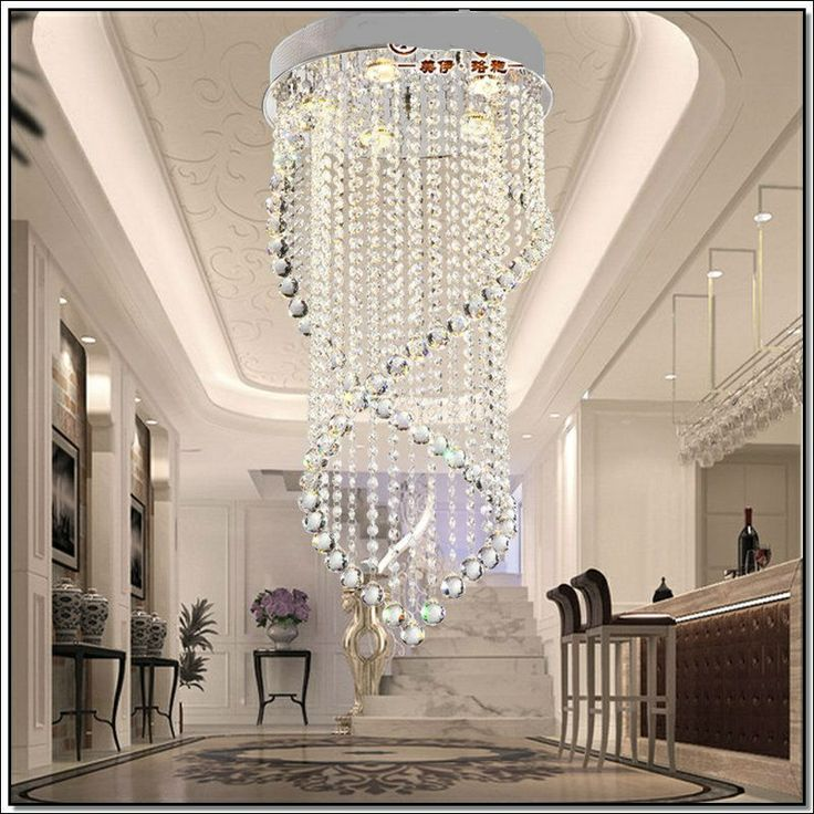 2013 Modern Crystal Ceiling Stair Lamp Chandelier Light