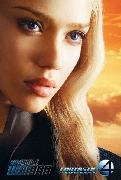 Character posters for film, Fantastic Four: Rise of the Silver Surfer (2007)
