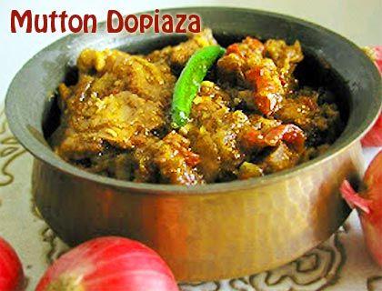 Mutton Dopiaza Recipe