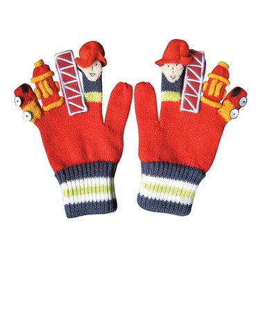 Take a look at this Red Firefighter Gloves by Kidorable on #zulily today! sale ends Sept 8th. $7.99