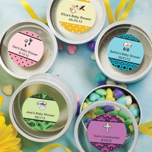 Personalized Expressions Collection White Mint Tin Favors