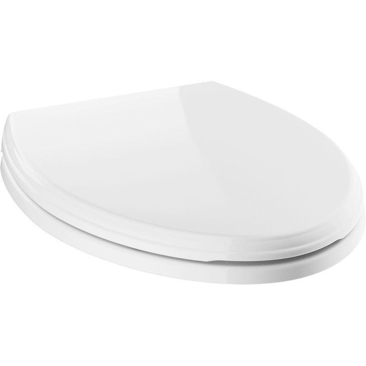 Delta Wycliffe Elongated Closed Front Toilet Seat with NoSlip Bumpers in White (Toilet Seats)