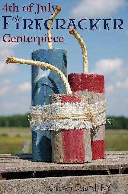 4th of July Firecracker Centerpiece