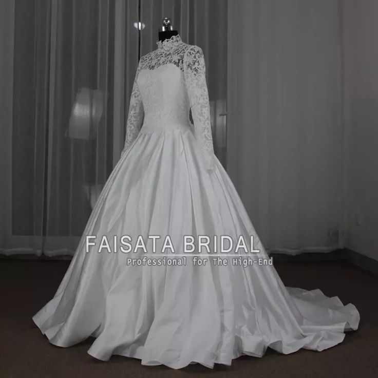 Vestido De Noiva Foto Real Gorgeous Long Sleeve High Neck Muslim Wedding Dress White Ball Gown Princess 2017 Wedding Dresses Modest Wedding Dresses with Sleeves Ball Gown Wedding Dresses Wedding Dresses Muslim Online with $261.72/Piece on Faisata's Store | DHgate.com