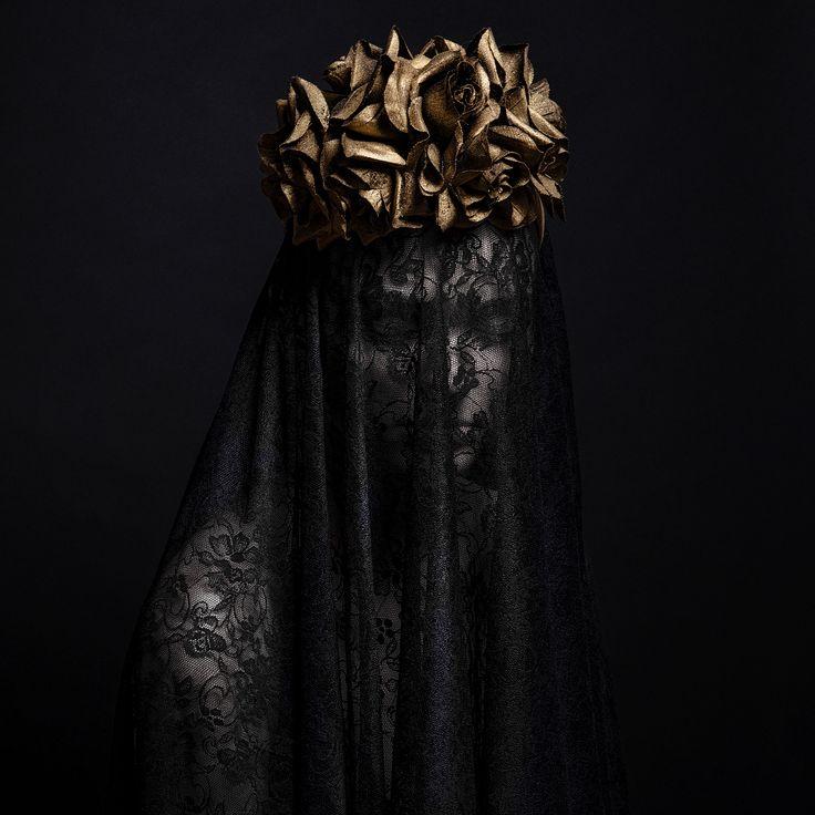 """Black Widow"" —  Photographer/Stylist: Martina Nemčeková Headpiece: Paula Model: Silvia Repová Assistant: Martin Fatrdia"
