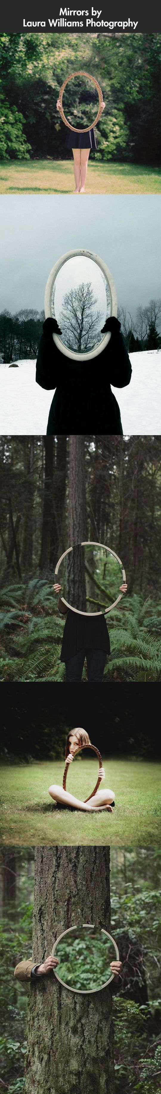 Creative optical illusions that utilize only regular mirrors.