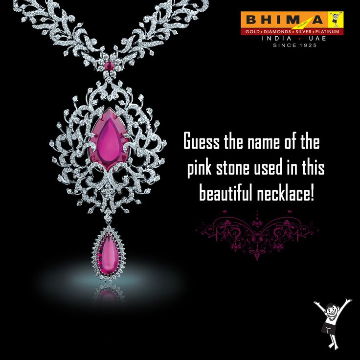 Good morning!  Guess the name of the ‪#‎PinkStone‬ used in this ‪#‎BeautifulNecklace‬ ! ‪#‎BhimaGold‬
