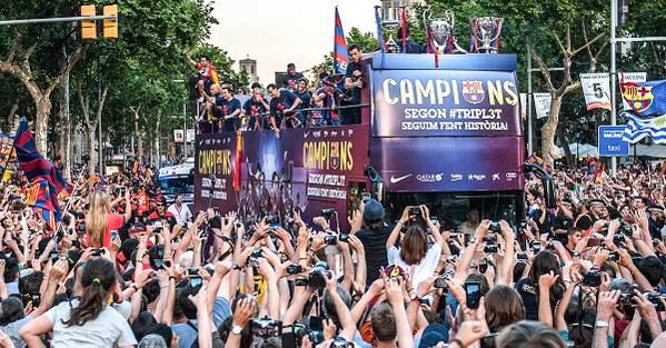 Barcelona release exclusive victory parade footage featuring Lionel Messi and Neymar [Video] - Football (soccer) highlights, goals, videos & clips | 101 Great Goals