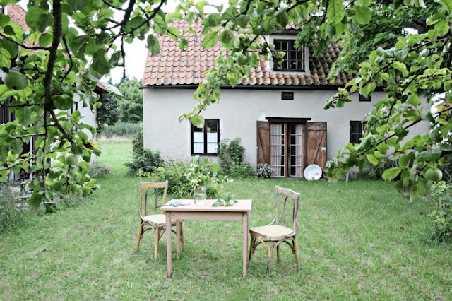 This little Scandinavian cottage is lovely!