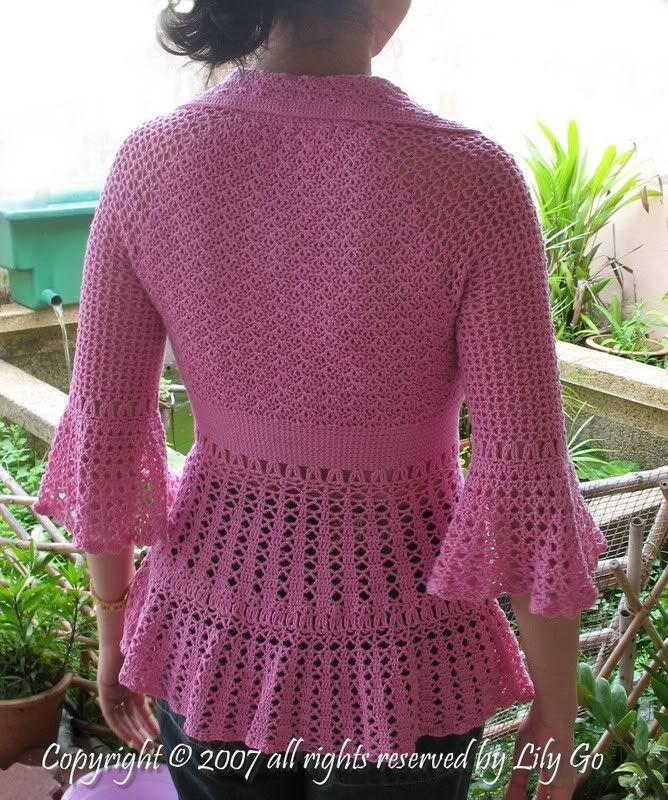 crochet coat patterns | Fitted Crocheted Jacket/top? Why Not!! - CROCHET