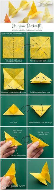 Vlinder vouwen uit papier.