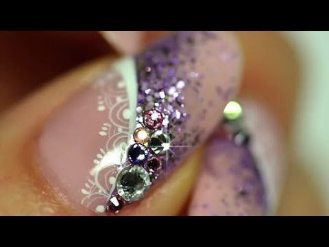 French manicure Nail Art - YouTube
