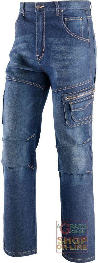 PANTALONI JEANS STRETCH MULTITASCHE 12 25 OZ   95% COTONE  5% ELASTANE  COLORE BLU  TG  46 60 https://www.chiaradecaria.it/it/abbigliamento-in-cotone/13799-pantaloni-jeans-stretch-multitasche-12-25-oz-95-cotone-5-elastane-colore-blu-tg-46-60.html