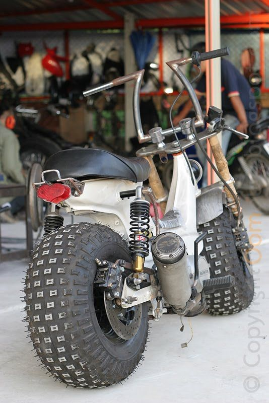 Honda cub with atc tires -- Curated by: Quality Tires | 1939 Bredin Road, Kelowna, BC, Canada V1Y7S9 | (250) 448-0054