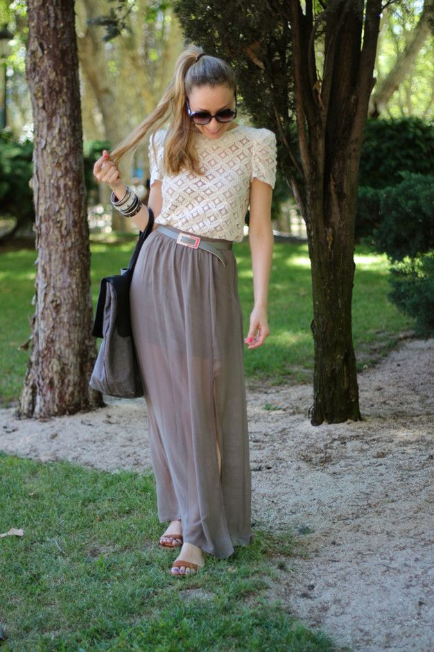 Grey Maxi Skirt | 27 Trendy Maxi Skirts For This Fall | Inspiration for hijab, hijab style, hijab fashion, hijab outfit