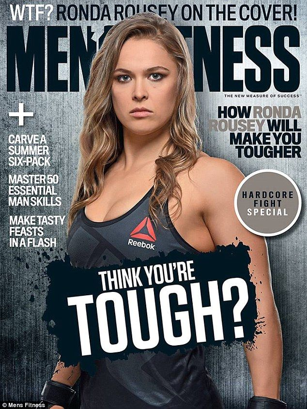 Ronda Rousey is the first woman to grace the cover of Men's Fitness magazine!