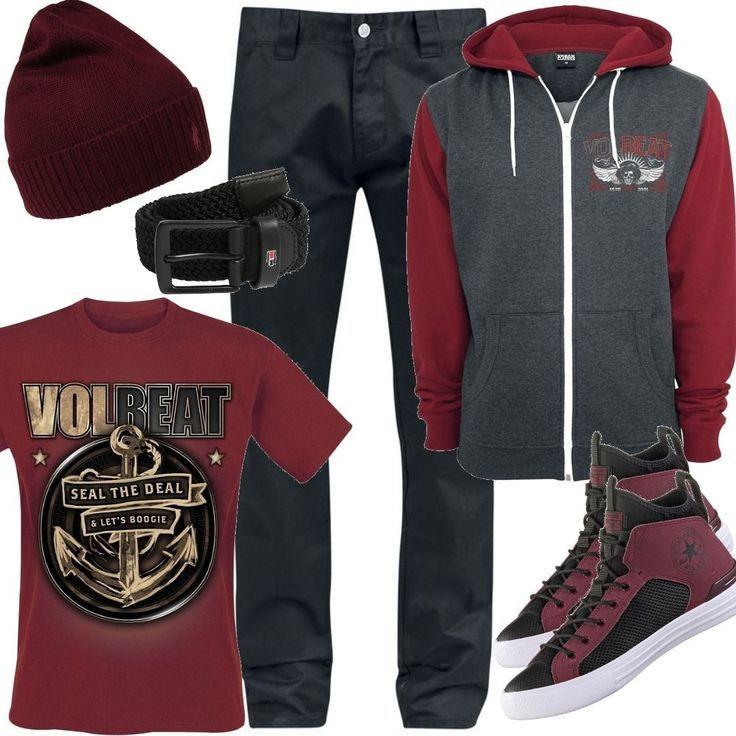 Volbeat- Character Collage- Kapuzenjacke Outfit für Herren zum Nachshoppen auf …