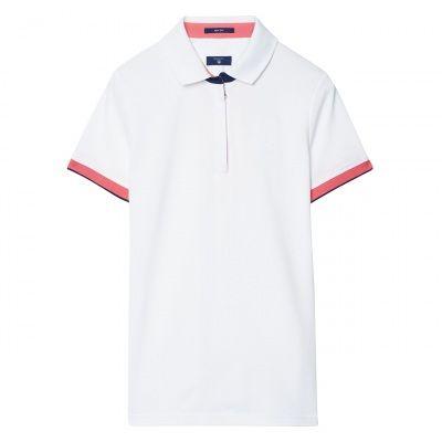 GANT Short-Sleeved Keep Dry Zip Piqué Polo #vermontfashion