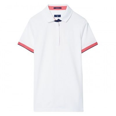 GANT Short-Sleeved Keep Dry Zip Piqué Polo #vermontfashion
