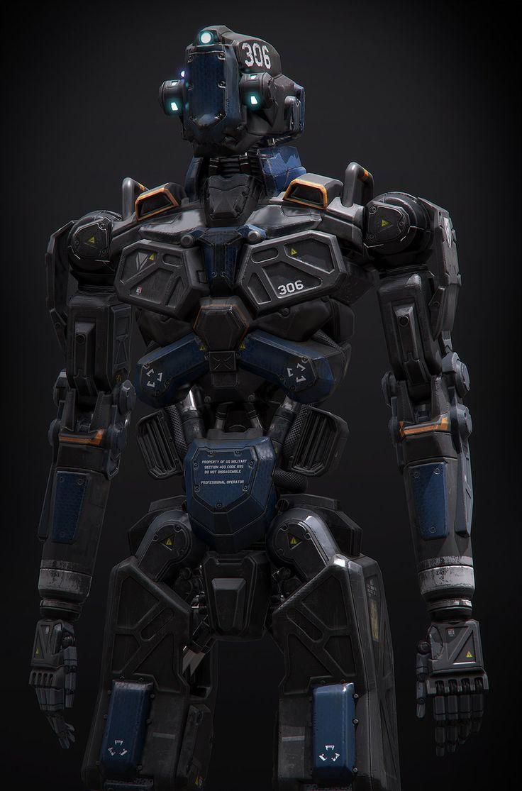 Humanoid Robot Project, Alan Van Ryzin on ArtStation at https://www.artstation.com/artwork/humanoid-robot-project