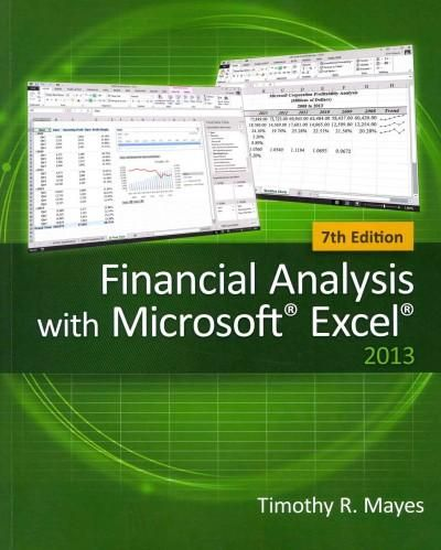 Help students master the latest features in Excel 2013 while establishing a strong foundation in corporate finance. With Mayes's FINANCIAL ANALYSIS WITH MICROSOFT EXCEL 2013,7E, your students develop