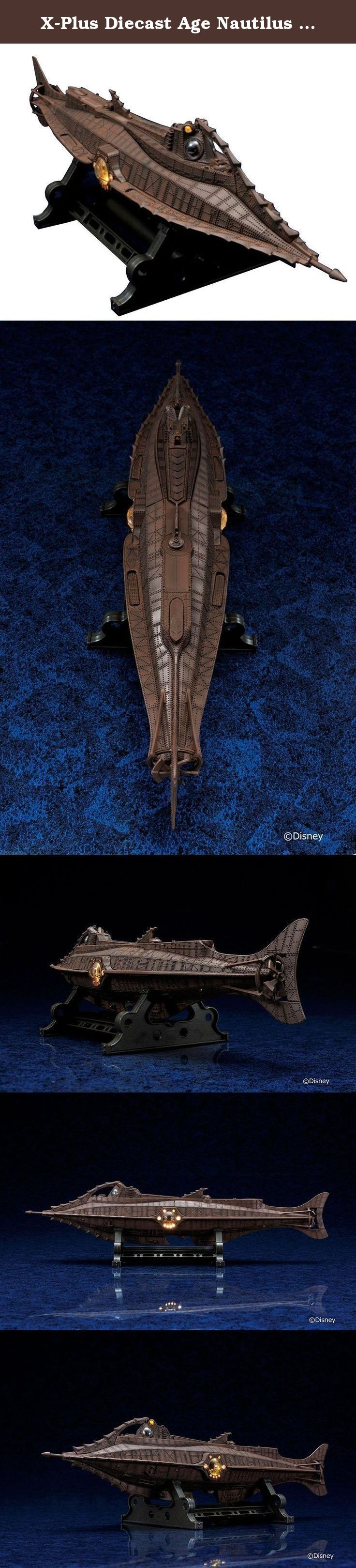 """X-Plus Diecast Age Nautilus """"20,000 Leagues Under The Sea"""" Action Figure. Just in time for the 60th anniversary of Disney's """"20,000 Leagues Under the Sea,"""" X Plus brings us a beautifully finished model of Captain Nemo's legendary Nautilus submarine!."""