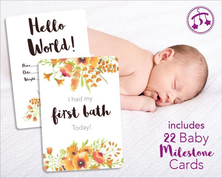 Baby Milestone Cards | PRINTABLE Milestone Cards for Baby ...