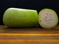 Photos and information about Opo Squash, including recipe ideas, how to select, how to store, and more! Opo is also known as long squash, calabash, lauki, and bottle gourd.