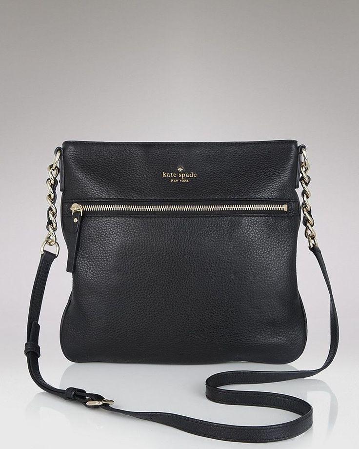 ~NEW!! Kate Spade New York Cobble Hill Ellen Cross-Body Handbag Black One Size #KateSpadeNewYork #NA