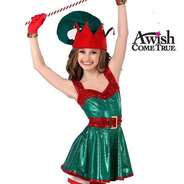 Un deseo hecho realidad Invierno / Navidad 2016-17 Jazz y Tap: Ayudante de caracteres traje de la danza de Santa