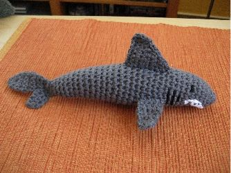 Crochet Shark Shoes Free Pattern : Crochet shark, Sharks and Crochet on Pinterest
