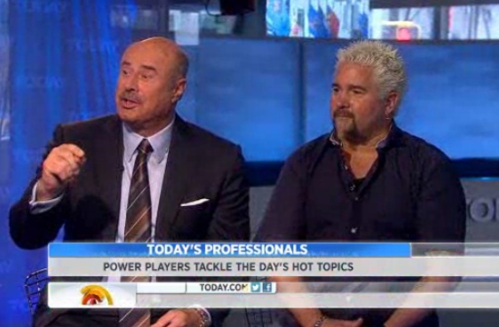 Guy Fieri (and Dr Phil) defend his restaurant on The Today Show after Pete Wells' New York Times review