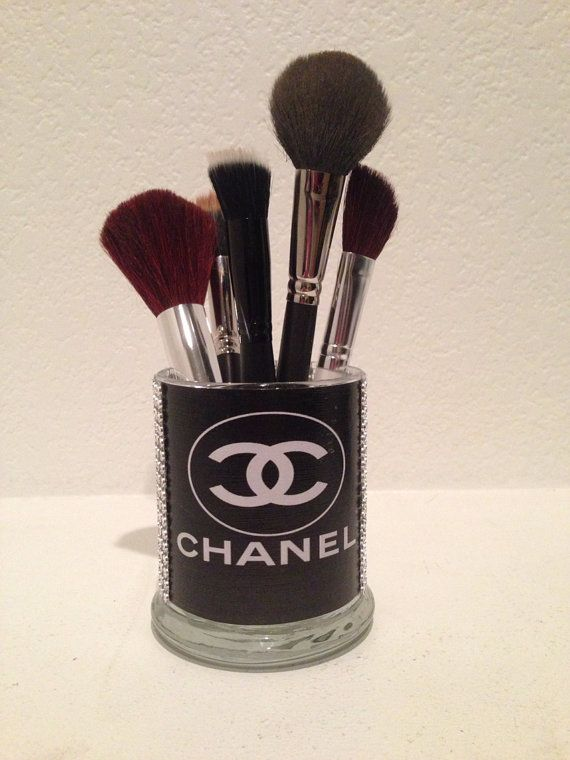 Coco Chanel inspired makeup brush holders by MLGalore on Etsy, $20.00