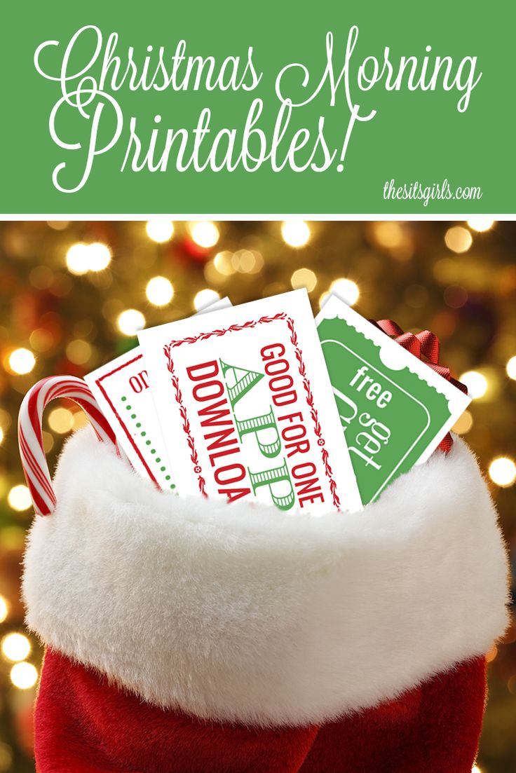 17 best images about gift certificates kids christmas morning printables