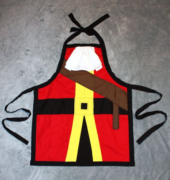 Captain Hook Inspired Dress Up Apron by runningoutamoonlight