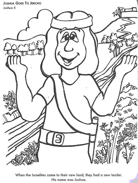 Joshua Goes To Jericho Colouring Pages