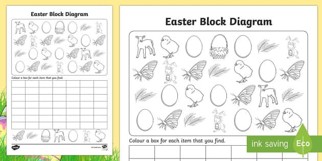 Easter block diagram activity sheet graphs record activities easter block diagram activity sheet graphs record activities worksheet easter pinterest block diagram and easter ccuart Images